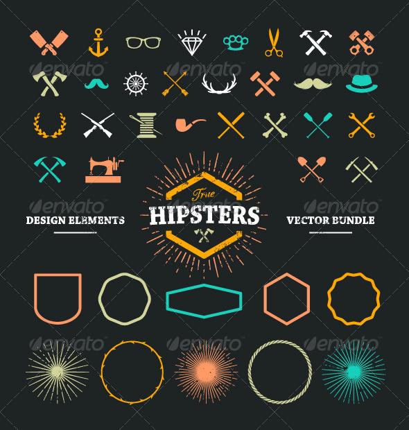 GraphicRiver Hipster Design Elements 8609340