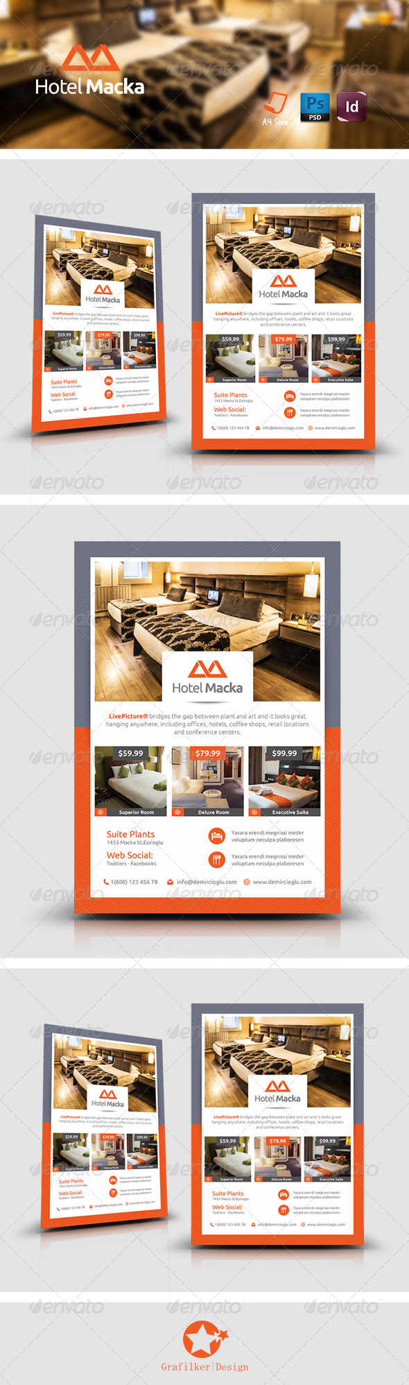 GraphicRiver Hotel Flyer Templates 8609905