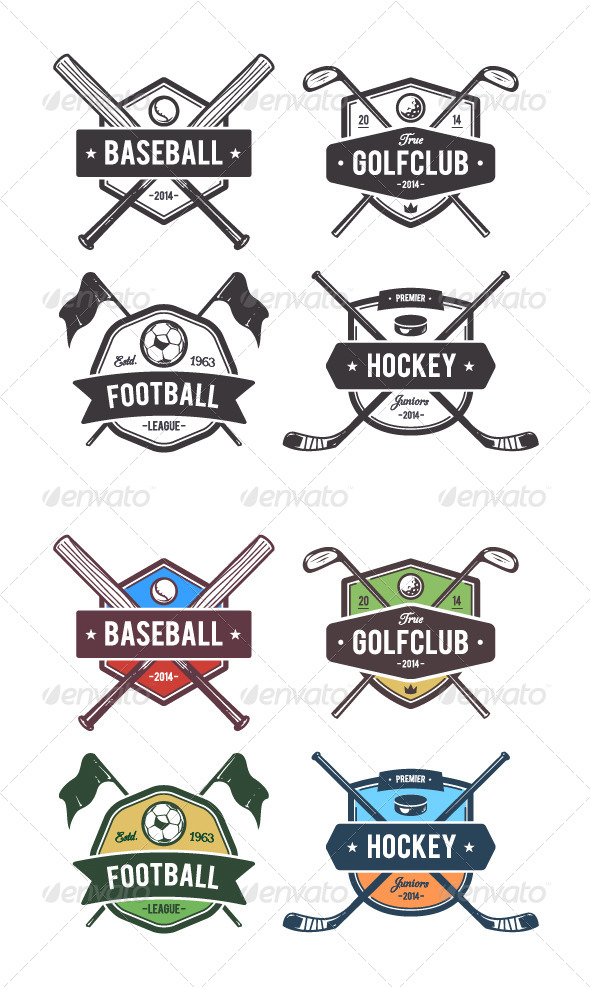 GraphicRiver Sport Vector Emblems 8609948