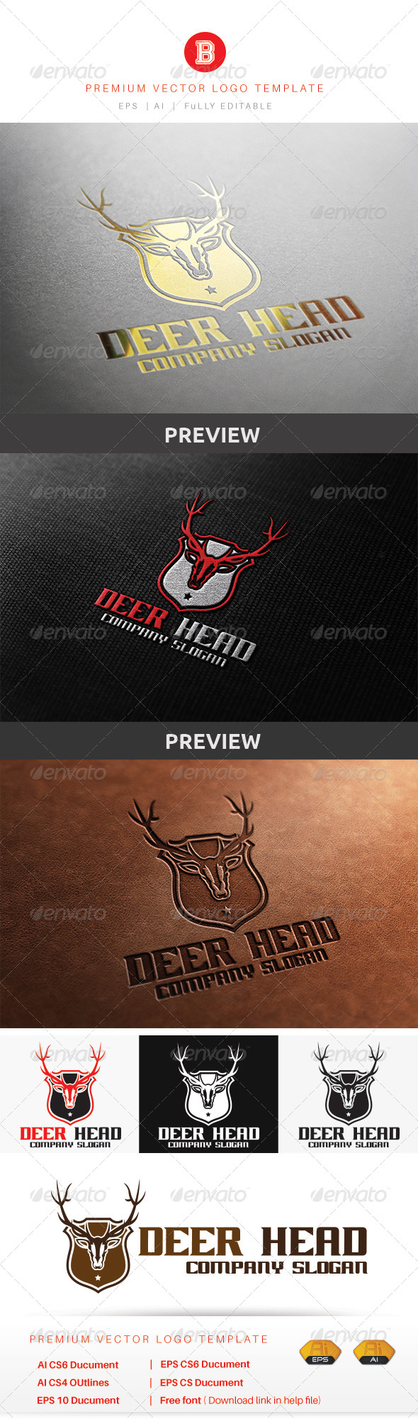 GraphicRiver Deer Head 8610014
