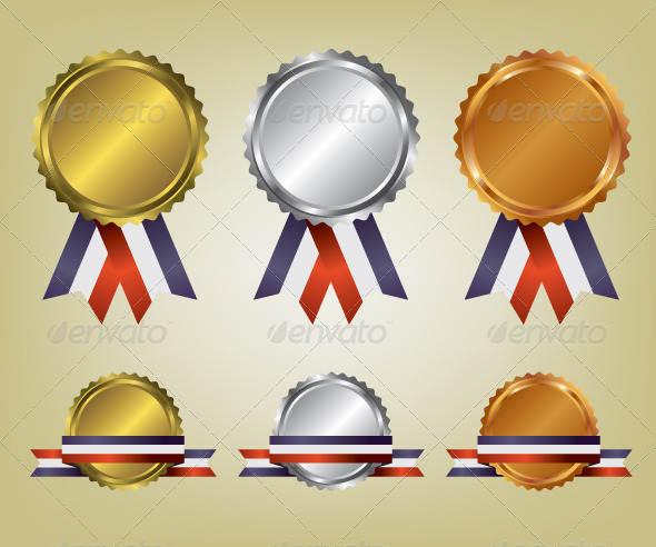 GraphicRiver Three Medals Illustration 8610069