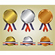 Three Medals Illustration - GraphicRiver Item for Sale