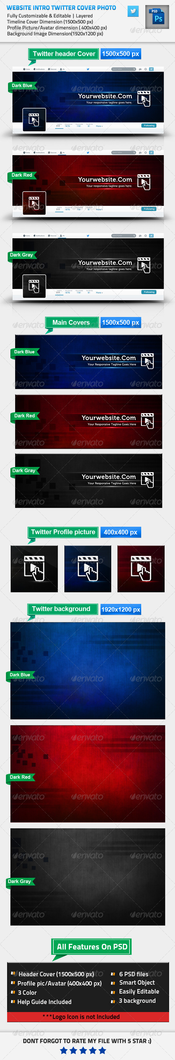 GraphicRiver Website Intro Twitter Cover Profile Pic BG 8610920