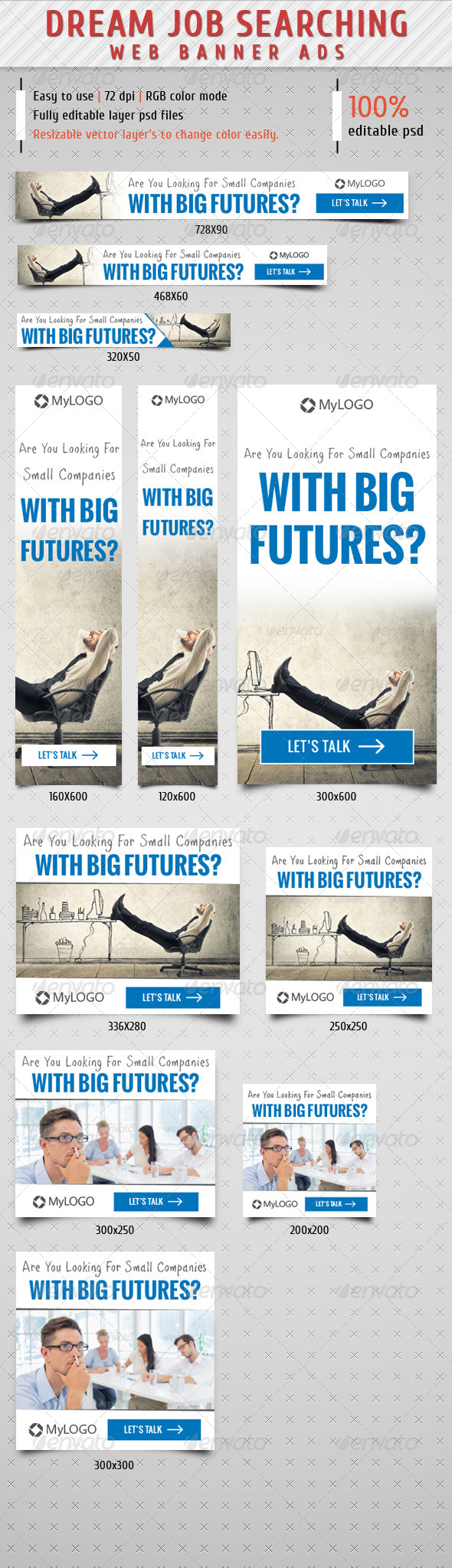 GraphicRiver Job Searching Web Banner Ads 8610952
