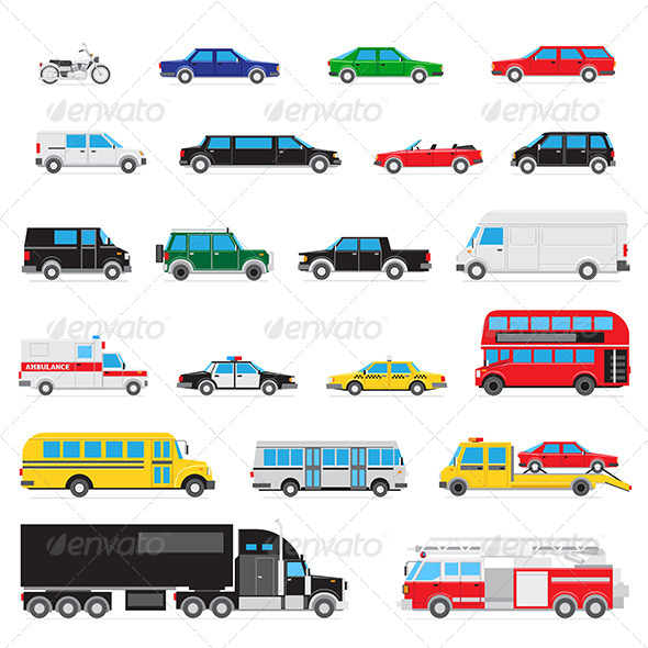 GraphicRiver Simple Auto Icon Set 8611024