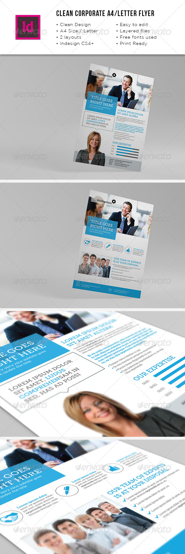 GraphicRiver Clean Corporate A4 Letter Flyer 8611063