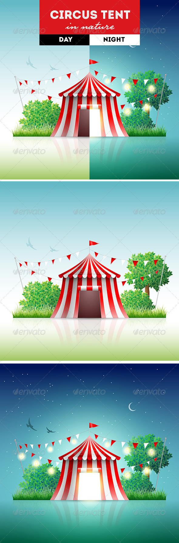 GraphicRiver Circus Tent in Nature 8611083