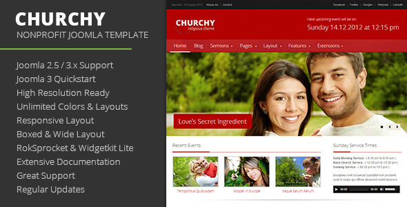 Churchy - Nonprofit Joomla Template
