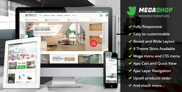 ThemeForest Megashop Multipurpose Responsive Magento Theme 8611190