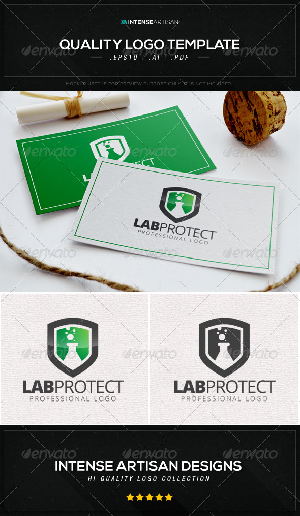 GraphicRiver Lab Protect Logo Template 8611191