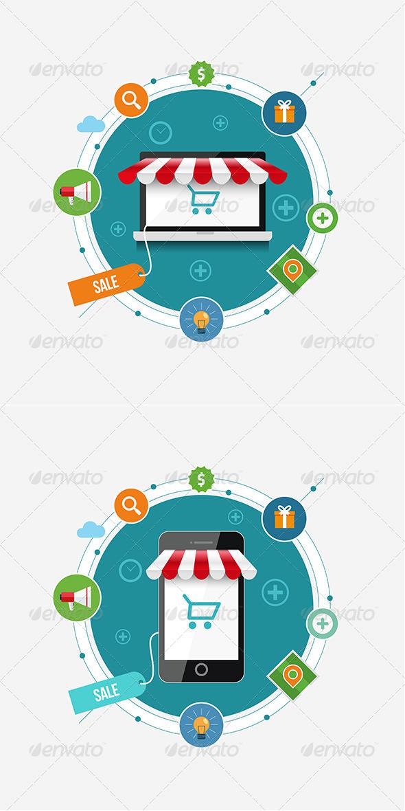 GraphicRiver Mobile Shopping 8611194