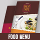 Colorful Food Menu - GraphicRiver Item for Sale
