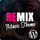 Remix - Music and Musician Ajax WP Theme