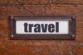 travel - file cabinet label - PhotoDune Item for Sale