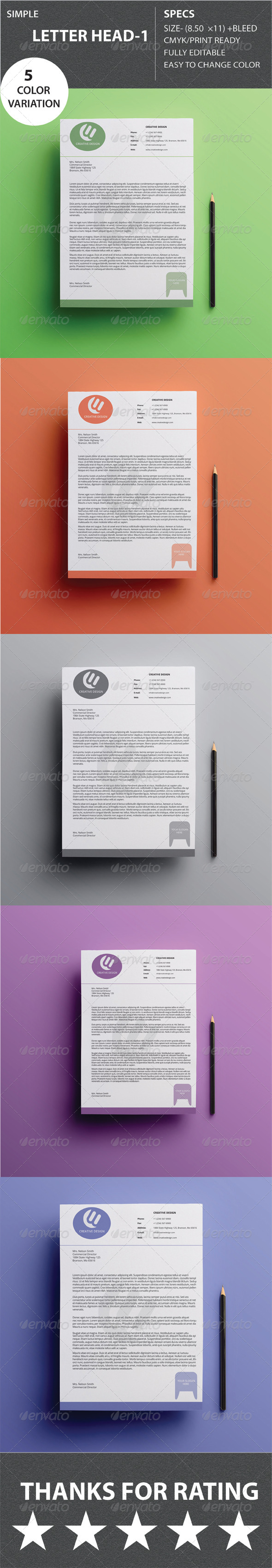 GraphicRiver Simple Letter Head 1 8611258