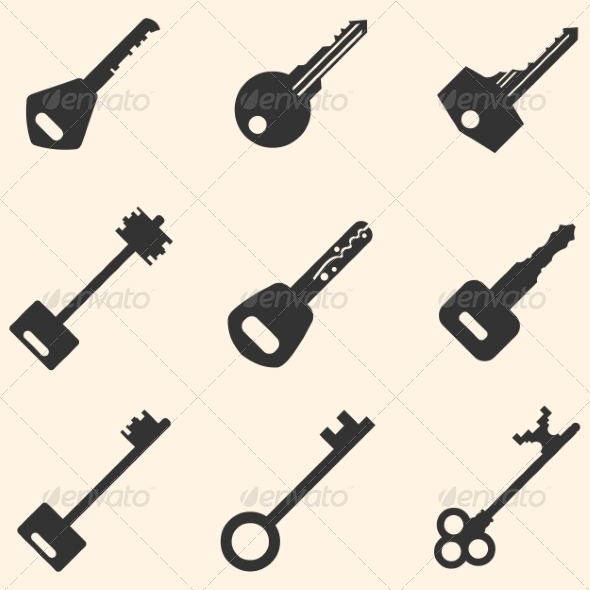 GraphicRiver Vector Set of Keys Icons 8611279