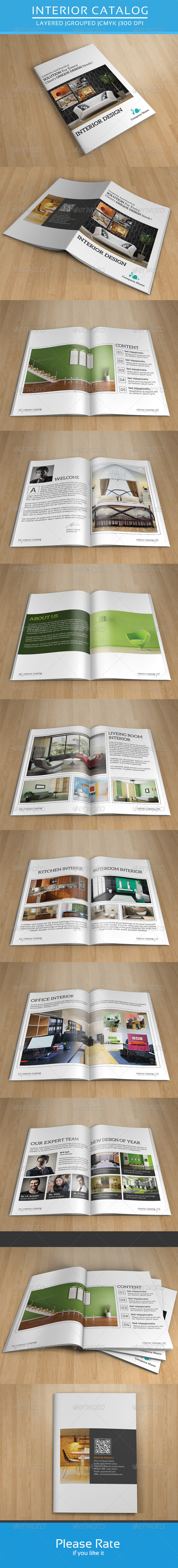 GraphicRiver Bifold Brochure for Interior Design-V112 8611324
