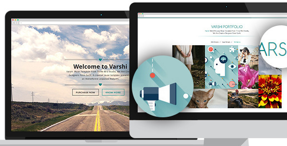 ThemeForest Varshi Multi-Purpose Muse Template 8611367