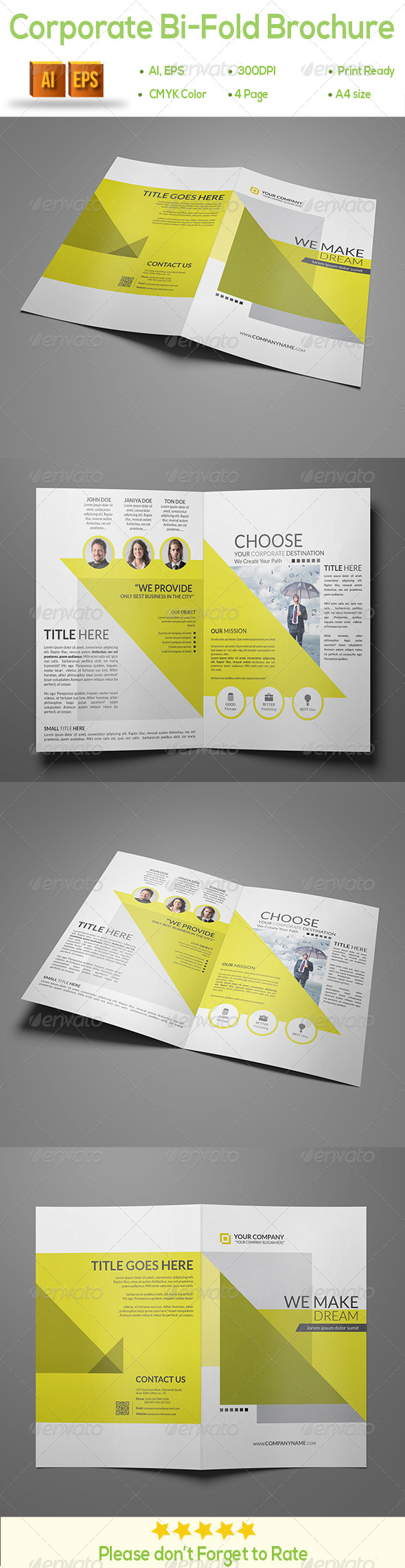 GraphicRiver Corporate Bi-Fold Brochure 8611413