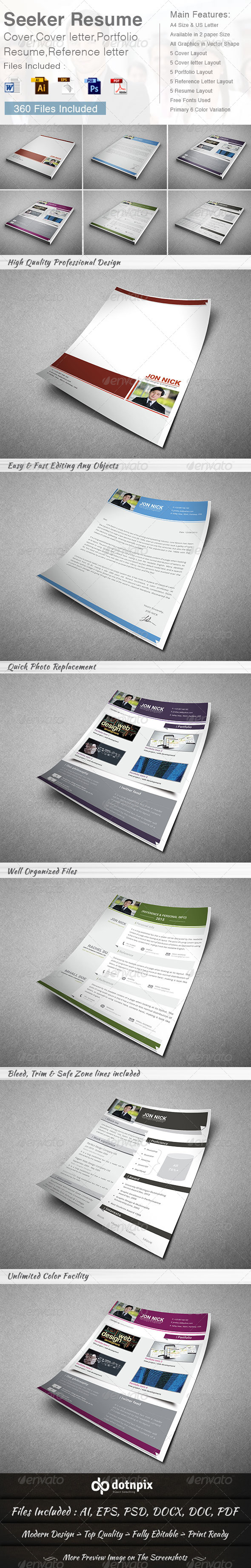 GraphicRiver Seeker Resume 8611414