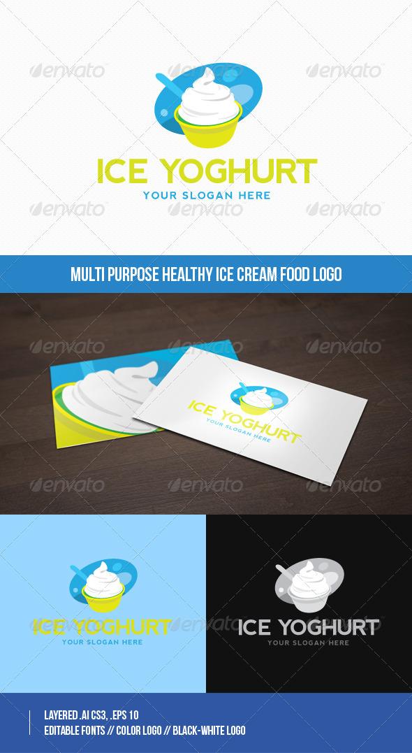 GraphicRiver Multi purpose Healthy Ice Cream Food Logo 8611434