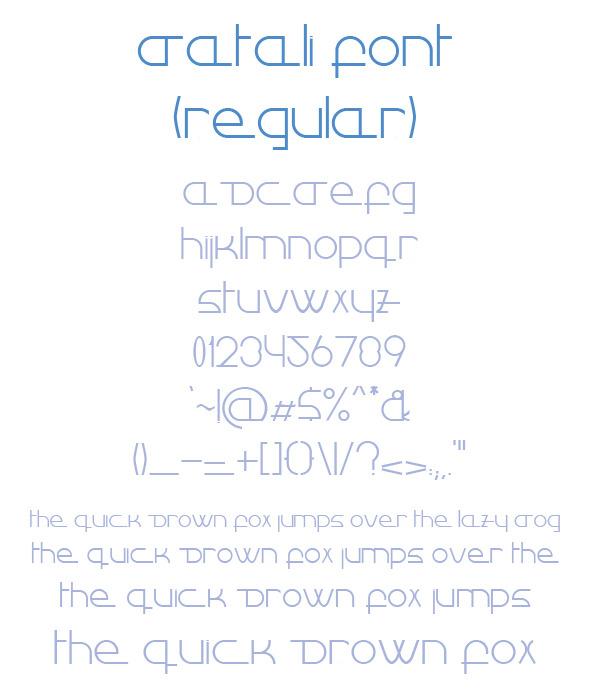 GraphicRiver Datali Regular Font 8611703