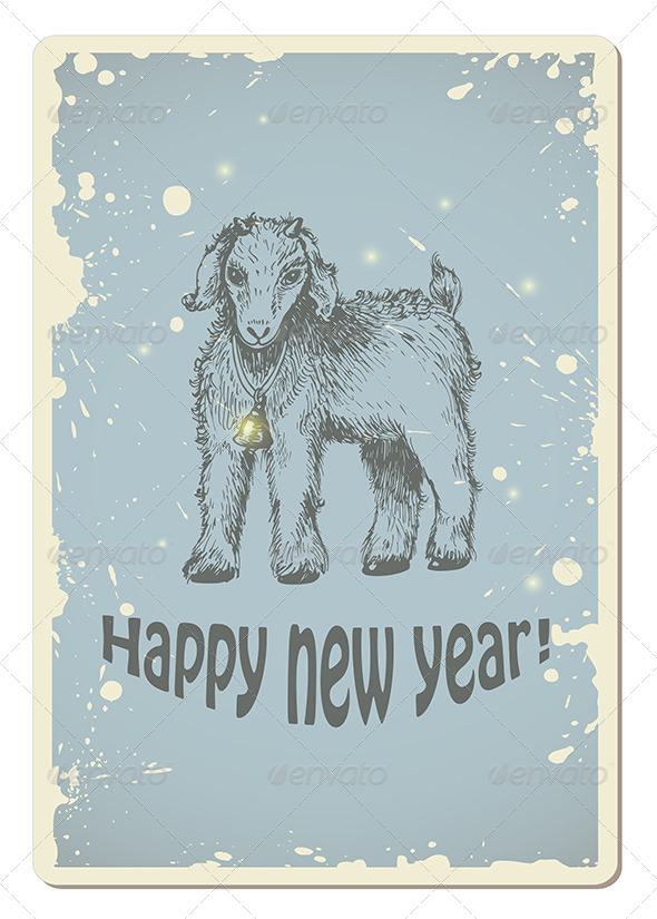 GraphicRiver Vintage New Year Card 8612002