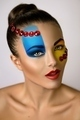 Beauty Fashion Model Blue & Yellow Make-up - PhotoDune Item for Sale