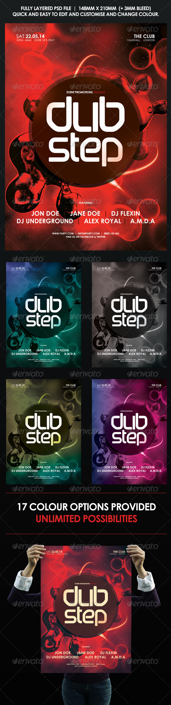 GraphicRiver Urban Dubstep Flyer Poster 8612049