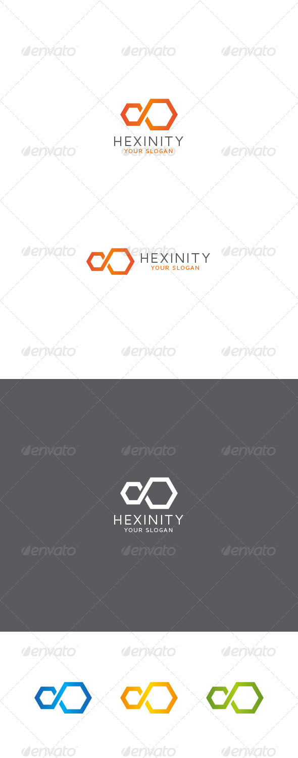GraphicRiver Infinity Hexagon Logo 8612055