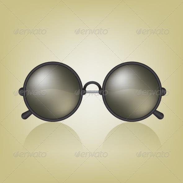 GraphicRiver Retro Sunglasses Illustration 8612066
