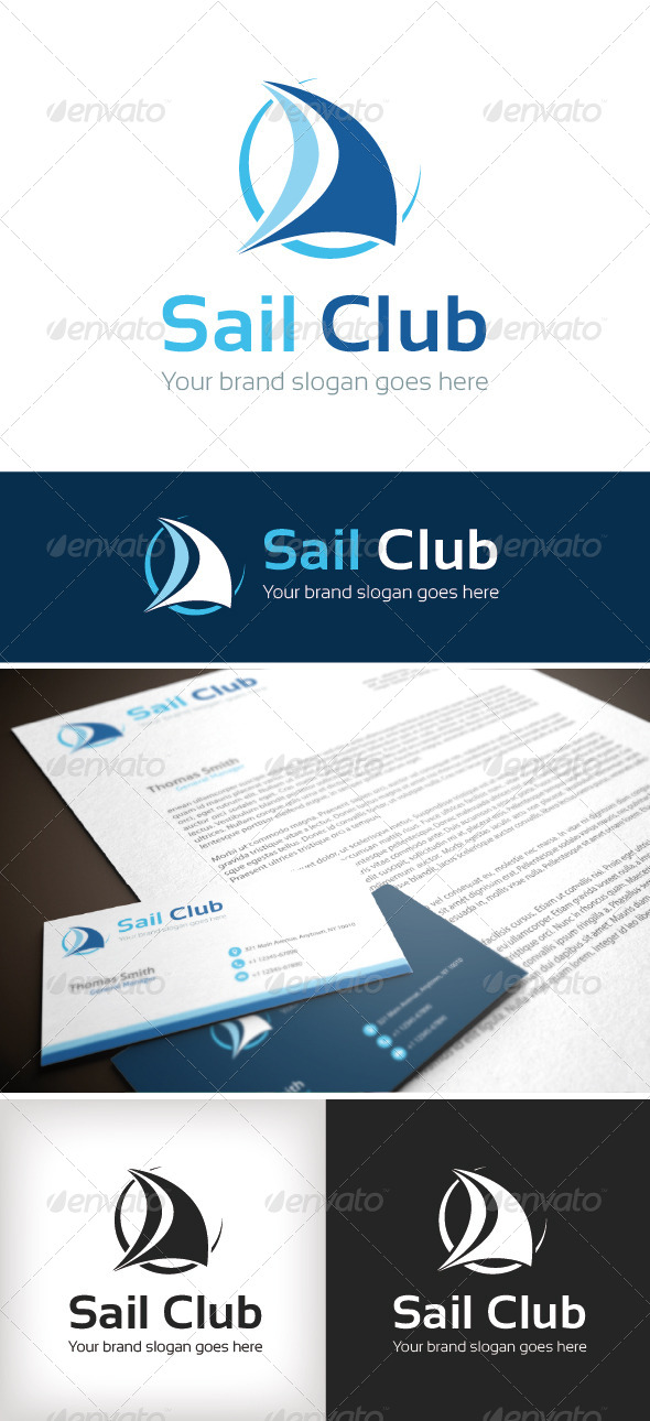 GraphicRiver Sail Club Logo Template 8612082