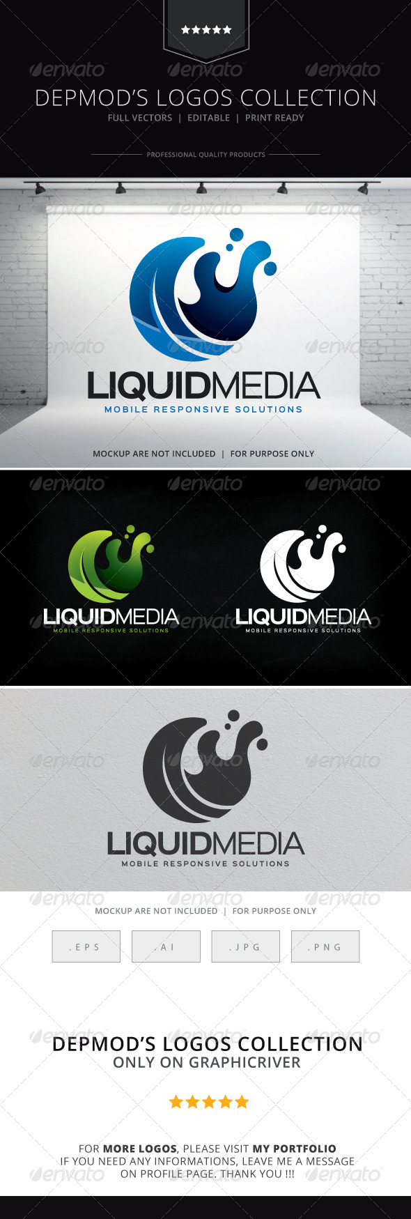 GraphicRiver Liquid Media Logo 8612134