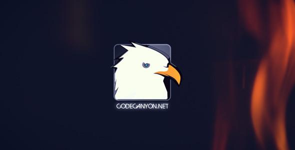 Fire Glitch Logo Intro