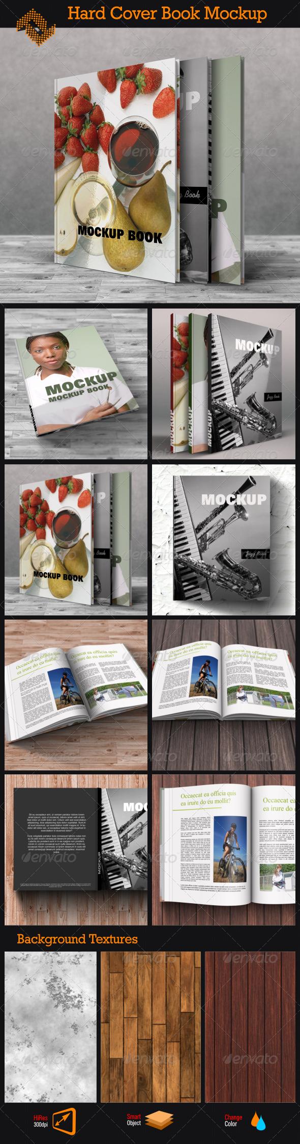 GraphicRiver Book Mockup Hard Cover 8612518