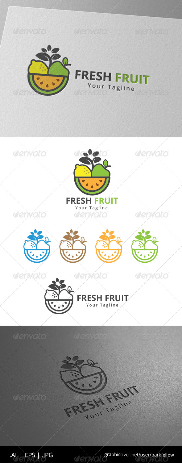 GraphicRiver Fresh Fruits Juice Logo 8612560