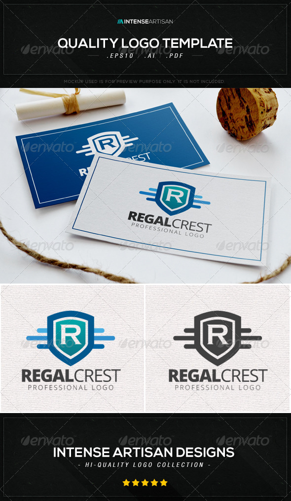 GraphicRiver Regal Crest Logo Template 8612611