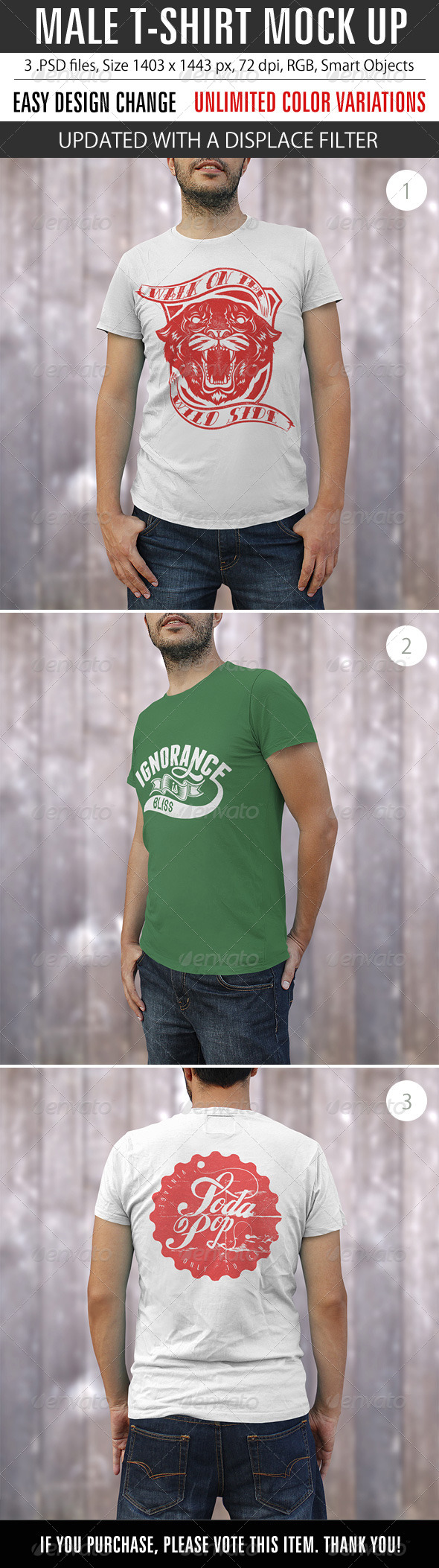 GraphicRiver Male T-Shirt Mock Up 8612730
