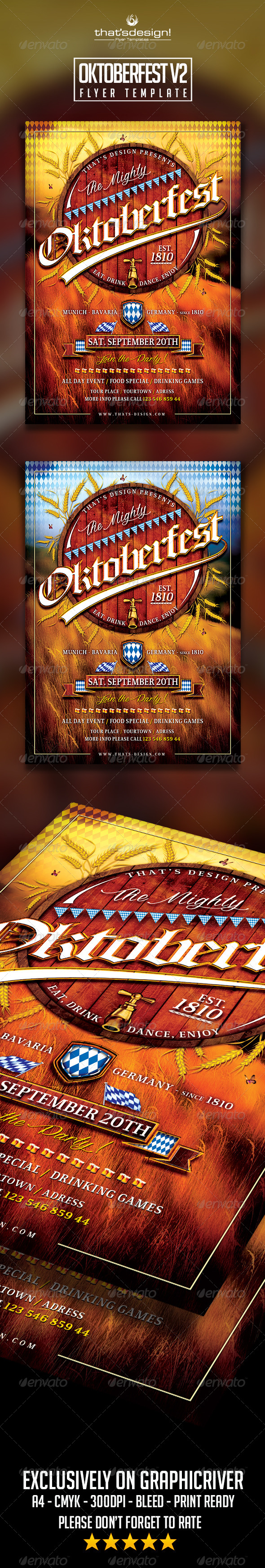 GraphicRiver Oktoberfest Flyer Template V2 8612739
