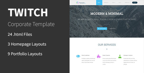 Twitch - Corporate HTML Template