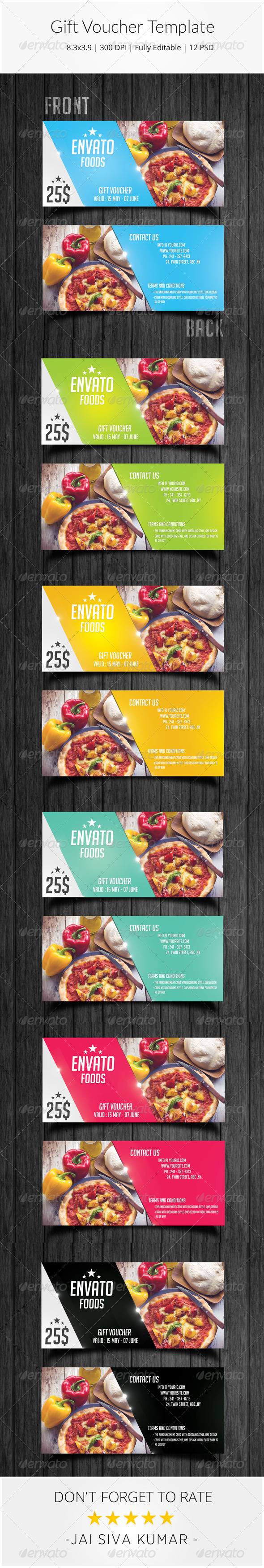 GraphicRiver Gift Voucher Template 8613017