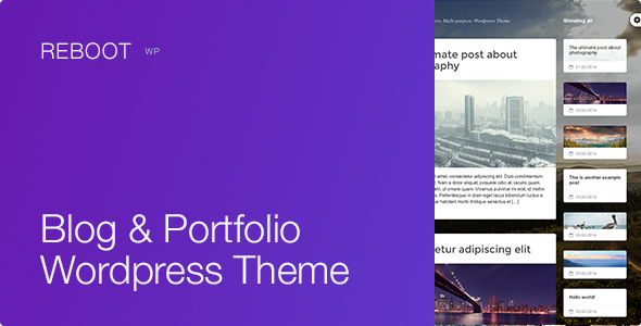 Reboot - Responsive Multi-purpose Wordpress Theme