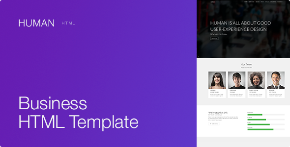 Human - Responsive HTML5 Business Template - Business Corporate