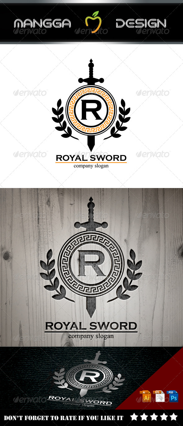 GraphicRiver Royal Sword Logo 8613318