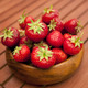 Fresh strawberries in wood bowl - PhotoDune Item for Sale