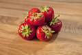 Fresh strawberries on wooden table - PhotoDune Item for Sale