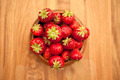 Fresh strawberries in wood bowl - PhotoDune Item for Sale