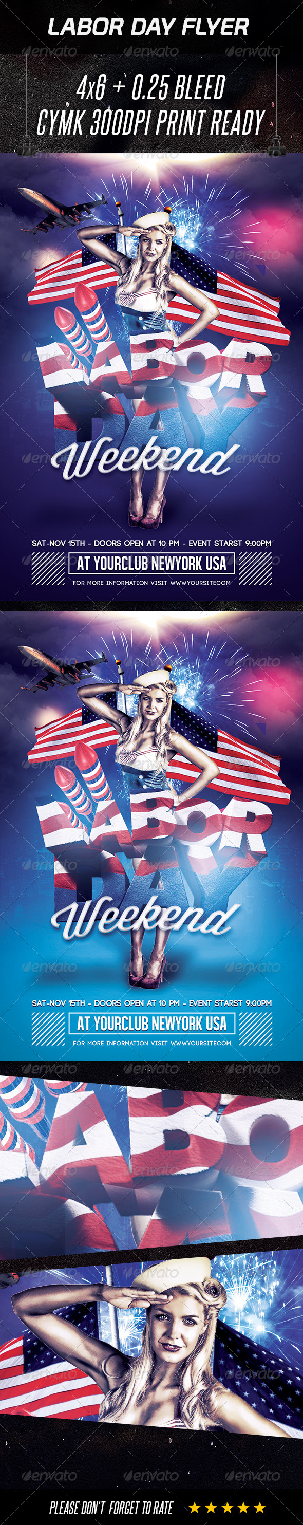 GraphicRiver Labor Day Flyer 8613483