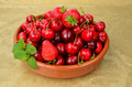 Cherries and strawberries - PhotoDune Item for Sale