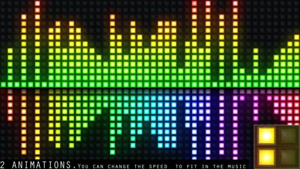 VJ Colourful Light Audio Equalizer